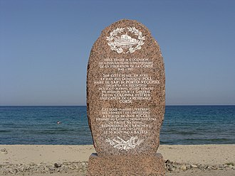 Corsica - Monument to the French Resistance during WWII in Solaro (plaine orientale)