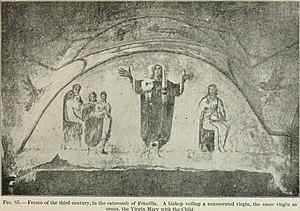 Christian headcovering - Fresco of veiled Christian woman, 3rd century.