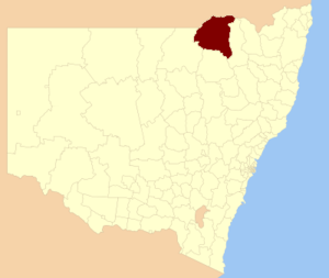 Moree Plains Shire - Location in New South Wales