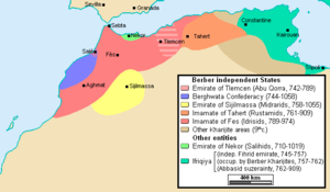 Berber Revolt - Image: Morocco and the Maghreb after the Berber Revolt