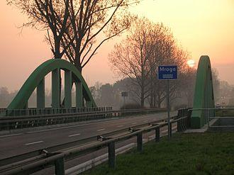 Głowno - Bridge across the Mroga River