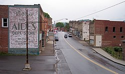 Main Street (West Virginia Route 211) in Mount Hope in 2007