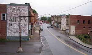 Mount Hope, West Virginia - Main Street (West Virginia Route 211) in Mount Hope in 2007