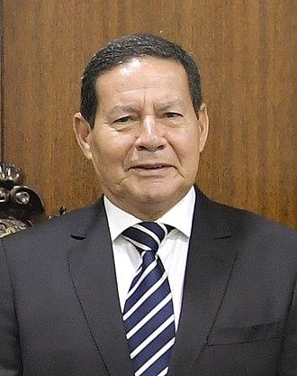Vice President of Brazil - Image: Mourão no Senado em Posse presidencial 2019