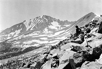 Mount Kaweah - Mount Kaweah from Red Spur, circa 1932