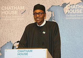 Chatham House - Muhammadu Buhari speaking at Chatham House, 26 February 2015.