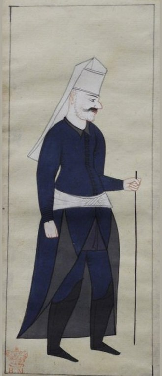 Military of the Ottoman Empire - Image: Mundy Acsi basi, head cook of the Janissaries