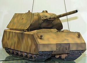 Maqueta del tanque Panzer VIII Maus.