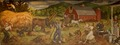 "Mural ""Haying"" by Philip Von Saltza, located in Federal Building, St. Albans, Vermont LCCN2013634364.tif"