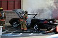 Mustang car fire at CVS on Key West Highway in North Potomac MD July 12 2012 (7575615252).jpg