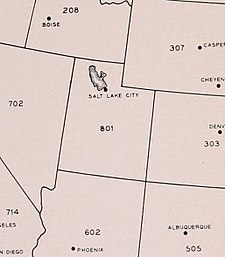 Area codes 801 and 385