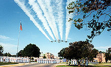 Blue angels flyover in Pensacola, Florida, From WikimediaPhotos