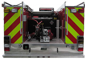 NFPA 1901 - NFPA 1901 Approved Reflective Chevron Markings on Fire/Rescue Truck