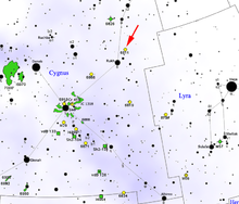 Map showing location of NGC 6811