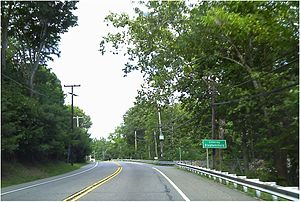 New Jersey Route 57 - Route 57 eastbound heading into Stephensburg