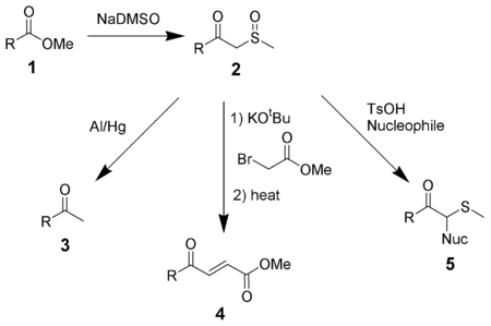 Reactions of b-ketosulfoxides