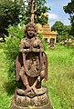 Namaste statue near a Hindu temple Karnataka India.jpg