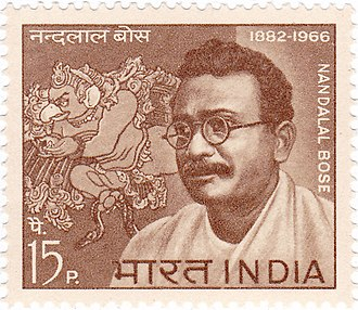 Nandalal Bose - Image: Nandalal Bose 1967 stamp of India