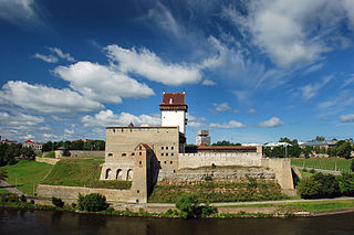 Narva City in Ida-Viru, Estonia