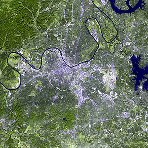 Nashville, Tennessee - A satellite image of Nashville