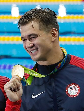 Nathan Adrian - Adrian after winning the 4 × 100 m freestyle relay at the 2016 Olympics