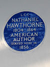 Nathaniel HAWTHORNE 1804-1864 American Author stayed here in 1856.JPG