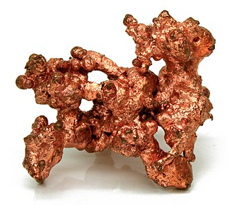 Metallurgy during the Copper Age in Europe - Sample of native copper.