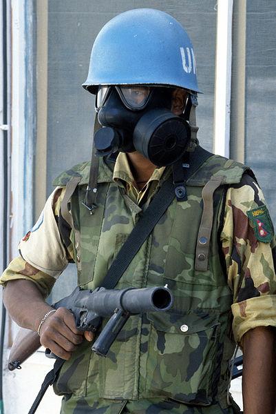 Armée Népalaise 401px-Nepalese_UN_soldier