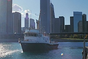 Hydrographic survey - Neptune, a privately owned survey ship based in Chicago, Illinois.