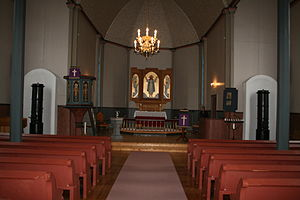 Nes Church, Bjugn - View of the interior