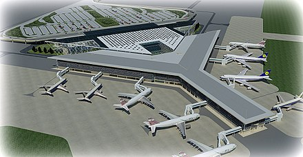 Islamabad International Airport has a capacity of handling 18 million passengers annually. New Islamabad International Airport.jpg