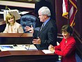 Newt Gingrich answering questions during a summit in the Florida House chamber.jpg