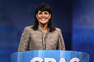 Nikki Haley - Haley speaking at the CPAC in National Harbor, Maryland