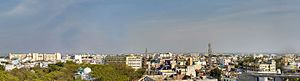 Nizamabad, Telangana - Panorama of Nizamabad overlooking east
