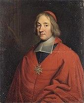 Tableau représentant le cardinal archevêque de Paris Louis-Antoine de Noailles.