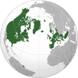 NATO countries shown in green.