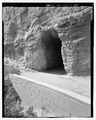 North entrance of Saddle Rock Trail tunnel and retaining wall. View S. - Scotts Bluff Summit Road, Gering, Scotts Bluff County, NE HAER NE-11-30.tif