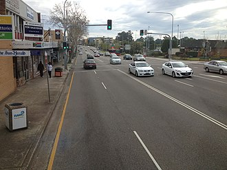 Baulkham Hills, New South Wales - Image: Northbound on the Old Northern Road at Baulkham Hills