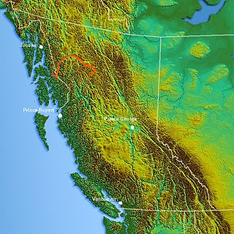 Stikine River - Image: Northwest relief Stikine River