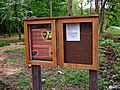 Notice board in Tiddesley Wood - geograph.org.uk - 1302826.jpg