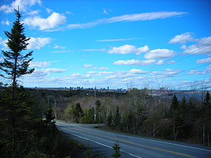 Nova Scotia Route 253 - View north on Route 253 near York Redoubt.