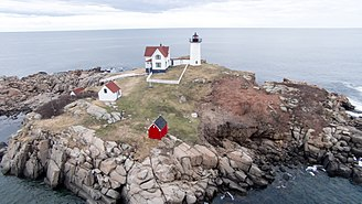 Cape Neddick Light - Image: Nubble Light from Above