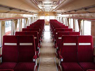 Odakyu 3000 series SE - Image: OER SE3000 inside