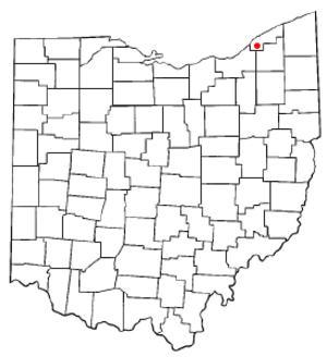 Waite Hill, Ohio - Image: OH Map doton Waite Hill