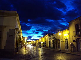 A Street in downtown Oaxaca