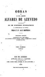 Álvares de Azevedo: Obras de Manoel Antonio Alvares de Azevedo