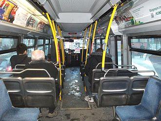 OC Transpo - Inside an OC Transpo bus