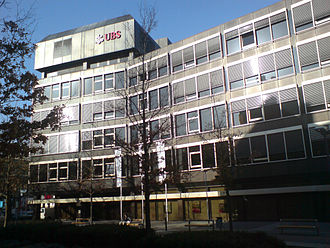 Schröder, Münchmeyer, Hengst & Co. - SMH's former headquarters in Offenbach am Main, Germany after the takeover by UBS