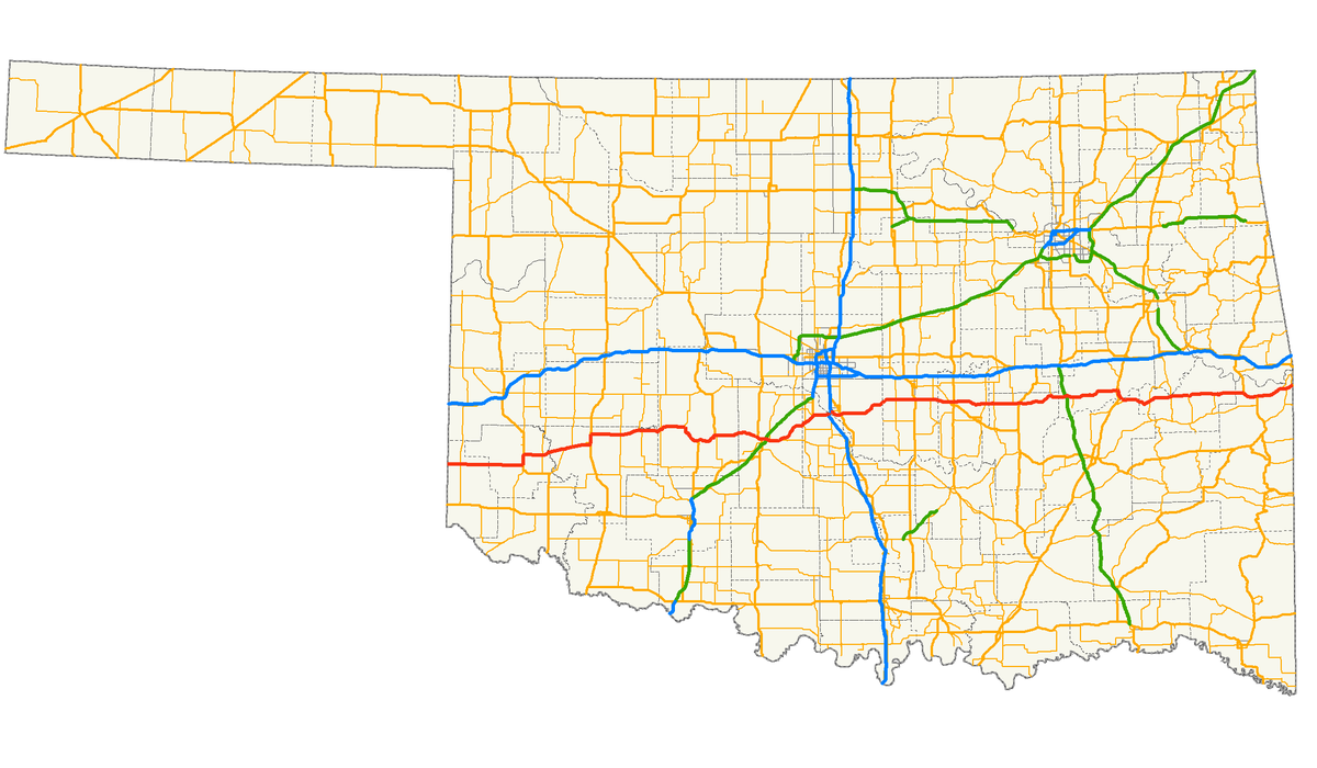 Oklahoma State Highway Wikipedia - Oklahoma map us