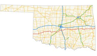 Oklahoma State Highway 9 - Image: Oklahoma State Highway 9 map